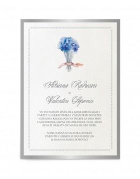 Invitatie de nunta Delicate Lavender