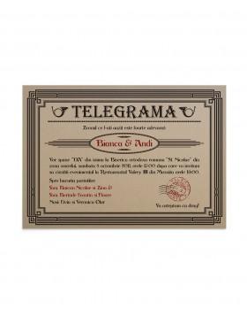 Invitatie Vintage Telegram