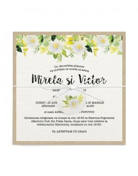 Invitatie de nunta Daisy Canopy