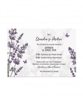 Invitatie de nunta Lavender Field