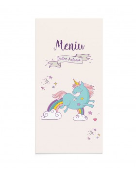Meniu de botez Happy Unicorn