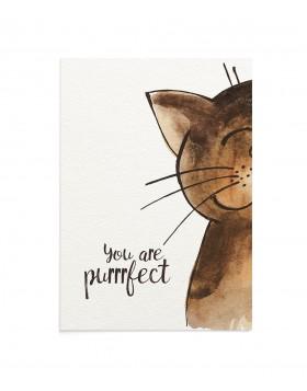Felicitare Purrrfect Cat