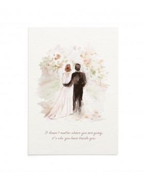 Felicitare Wedding Road